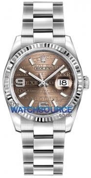 Rolex Datejust 36mm Stainless Steel 116234 Bronze Wave Oyster watch
