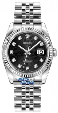 Rolex Datejust 36mm Stainless Steel 116234 Jubilee Black Diamond Jubilee watch