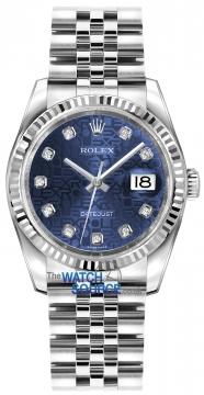 Rolex Datejust 36mm Stainless Steel 116234 Jubilee Blue Diamond Jubilee watch
