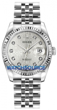 Rolex Datejust 36mm Stainless Steel 116234 Jubilee Silver Diamond Jubilee watch