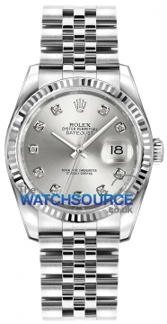 Rolex Datejust 36mm Stainless Steel 116234 Silver Diamond Jubilee watch