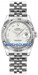 Rolex Datejust 36mm Stainless Steel 116234 White Roman Jubilee watch