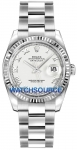 Rolex Datejust 36mm Stainless Steel 116234 White Roman Oyster watch