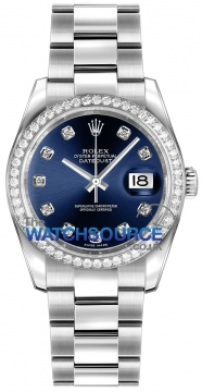 Rolex Datejust 36mm Stainless Steel 116244 Blue Diamond Oyster watch