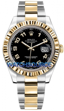Rolex Oyster Perpetual Datejust II Mens watch, model number - 116333 Black Arabic, discount price of £8,530.00 from The Watch Source