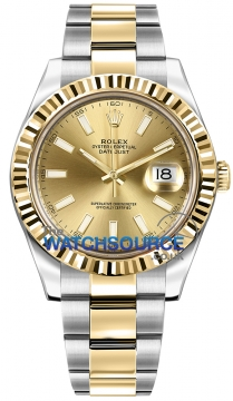 Rolex Oyster Perpetual Datejust II Mens watch, model number - 116333 Champagne Index, discount price of £8,530.00 from The Watch Source