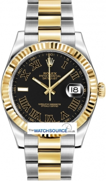 Rolex Oyster Perpetual Datejust II Mens watch, model number - 116333 Black Roman, discount price of £8,530.00 from The Watch Source