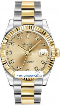 Rolex Oyster Perpetual Datejust II Mens watch, model number - 116333 Champagne Diamond, discount price of £10,010.00 from The Watch Source