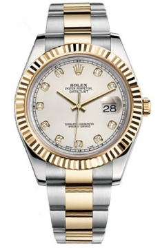 Rolex Oyster Perpetual Datejust II Mens watch, model number - 116333 Ivory Diamond, discount price of £10,010.00 from The Watch Source