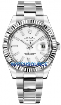 Rolex Oyster Perpetual Datejust II Mens watch, model number - 116334 White Index, discount price of £5,795.00 from The Watch Source