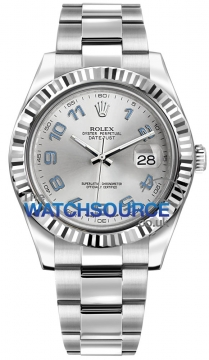 Rolex Oyster Perpetual Datejust II Mens watch, model number - 116334 Rhodium Arabic, discount price of £6,710.00 from The Watch Source