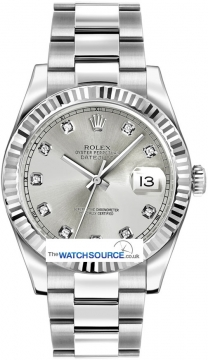 Rolex Oyster Perpetual Datejust II Mens watch, model number - 116334 Silver Diamond, discount price of £8,200.00 from The Watch Source