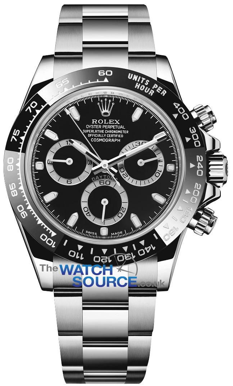 Rolex Cosmograph Daytona Stainless Steel 116500LN Black