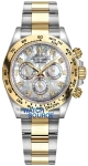 Rolex Cosmograph Daytona Steel and Gold 116503 White MOP Diamond Oyster watch
