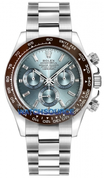 Rolex Cosmograph Daytona Platinum 116506 Ice Blue Baguette watch