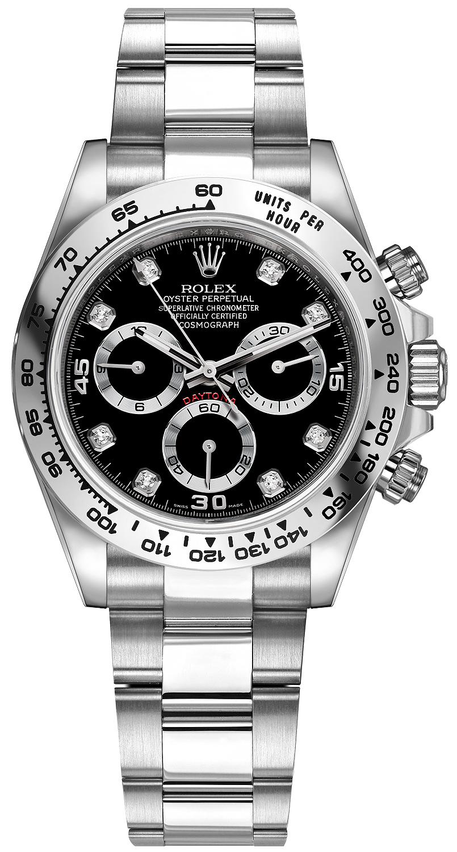 f500ebba182 Cosmograph Daytona White Gold. Model    116509 Black Diamond Oyster. Mens  Watch ...
