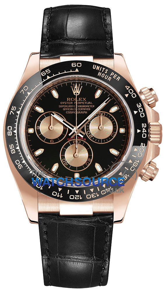 Rolex Cosmograph Daytona Everose Gold 116515ln Black And Pink Index