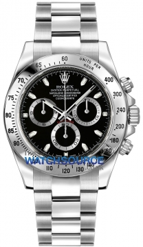 Rolex Cosmograph Daytona Stainless Steel Mens watch, model number - 116520 Black, discount price of £7,950.00 from The Watch Source