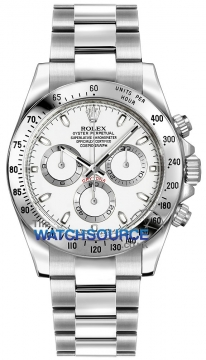 Rolex Cosmograph Daytona Stainless Steel Mens watch, model number - 116520 White, discount price of £7,950.00 from The Watch Source