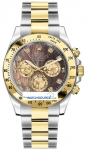 Rolex Cosmograph Daytona Steel and Gold 116523 Black MOP Diamond watch