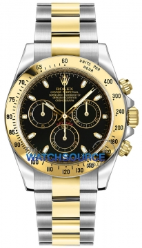 Rolex Cosmograph Daytona Steel and Gold Mens watch, model number - 116523 Black Index, discount price of £12,380.00 from The Watch Source