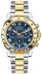 Rolex Cosmograph Daytona Steel and Gold 116523 Blue Arabic watch