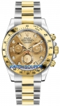 Rolex Cosmograph Daytona Steel and Gold 116523 Champagne Diamond watch