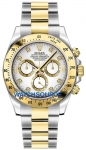 Rolex Cosmograph Daytona Steel and Gold 116523 White Diamond watch