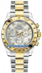 Rolex Cosmograph Daytona Steel and Gold 116523 White MOP Diamond watch