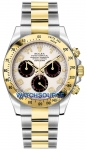 Rolex Cosmograph Daytona Steel and Gold 116523 White and Black Arabic watch
