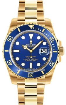 Rolex Oyster Perpetual Submariner Date Mens watch, model number - 116618 LB Blue, discount price of £25,190.00 from The Watch Source