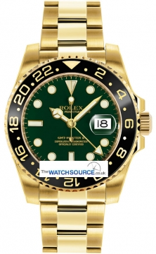 Rolex GMT Master II Mens watch, model number - 116718LN Green, discount price of £24,440.00 from The Watch Source
