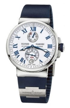 Ulysse Nardin Marine Chronometer Manufacture 43mm Mens watch, model number - 1183-126-3/40, discount price of £6,481.00 from The Watch Source