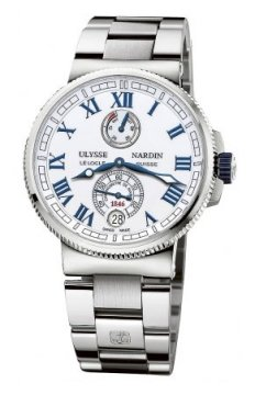 Ulysse Nardin Marine Chronometer Manufacture 43mm Mens watch, model number - 1183-126-7m/40, discount price of £7,114.00 from The Watch Source