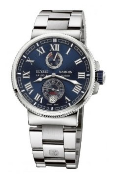 Ulysse Nardin Marine Chronometer Manufacture 43mm Mens watch, model number - 1183-126-7m/43, discount price of £6,695.00 from The Watch Source