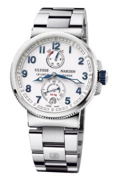 Ulysse Nardin Marine Chronometer Manufacture 43mm Mens watch, model number - 1183-126-7m/60, discount price of £7,114.00 from The Watch Source
