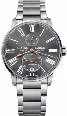 Ulysse Nardin Marine Chronometer Torpilleur 42mm 1183-310-7m/42-bq watch
