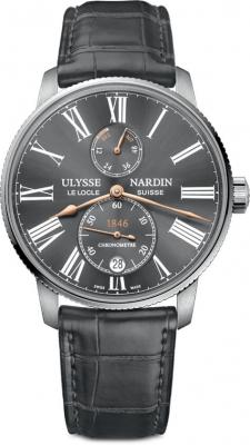 Buy this new Ulysse Nardin Marine Chronometer Torpilleur 42mm 1183-310/42-bq mens watch for the discount price of £5,015.00. UK Retailer.