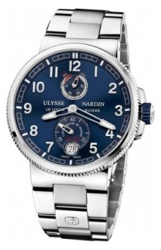 Ulysse Nardin Marine Chronometer Manufacture 43mm Mens watch, model number - 1183-126-7m/63, discount price of £7,114.00 from The Watch Source
