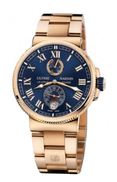 Ulysse Nardin Marine Chronometer Manufacture 43mm Mens watch, model number - 1186-126-8m/43, discount price of £31,662.00 from The Watch Source