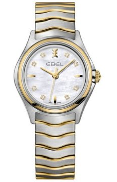 Buy this new Ebel Ebel Wave Quartz 30mm 1216197 ladies watch for the discount price of £1,275.00. UK Retailer.
