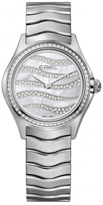 Buy this new Ebel Ebel Wave Quartz 30mm 1216270 ladies watch for the discount price of £2,975.00. UK Retailer.