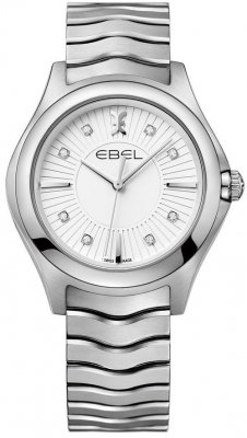 Buy this new Ebel Ebel Wave Quartz 35mm 1216302 ladies watch for the discount price of £1,355.00. UK Retailer.