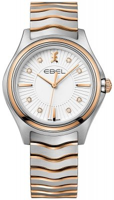 Buy this new Ebel Ebel Wave Quartz 35mm 1216306 ladies watch for the discount price of £1,610.00. UK Retailer.