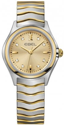 Buy this new Ebel Ebel Wave Quartz 30mm 1216317 ladies watch for the discount price of £1,275.00. UK Retailer.