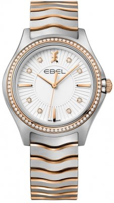 Buy this new Ebel Ebel Wave Quartz 35mm 1216319 ladies watch for the discount price of £2,677.00. UK Retailer.