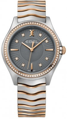 Buy this new Ebel Ebel Wave Quartz 35mm 1216320 ladies watch for the discount price of £2,677.00. UK Retailer.