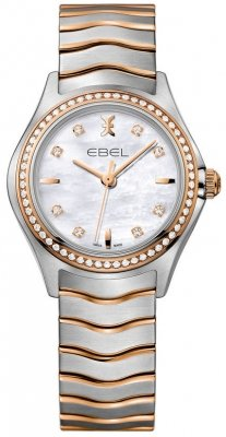 Buy this new Ebel Ebel Wave Quartz 30mm 1216325 ladies watch for the discount price of £2,035.00. UK Retailer.