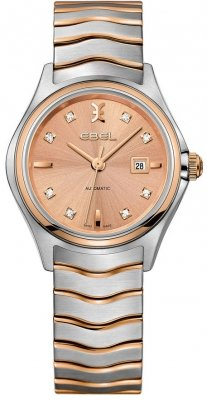 Buy this new Ebel Ebel Wave Automatic 30mm 1216328 ladies watch for the discount price of £1,695.00. UK Retailer.