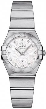 Buy this new Omega Constellation Brushed 24mm 123.10.24.60.55.004 ladies watch for the discount price of £2,799.00. UK Retailer.